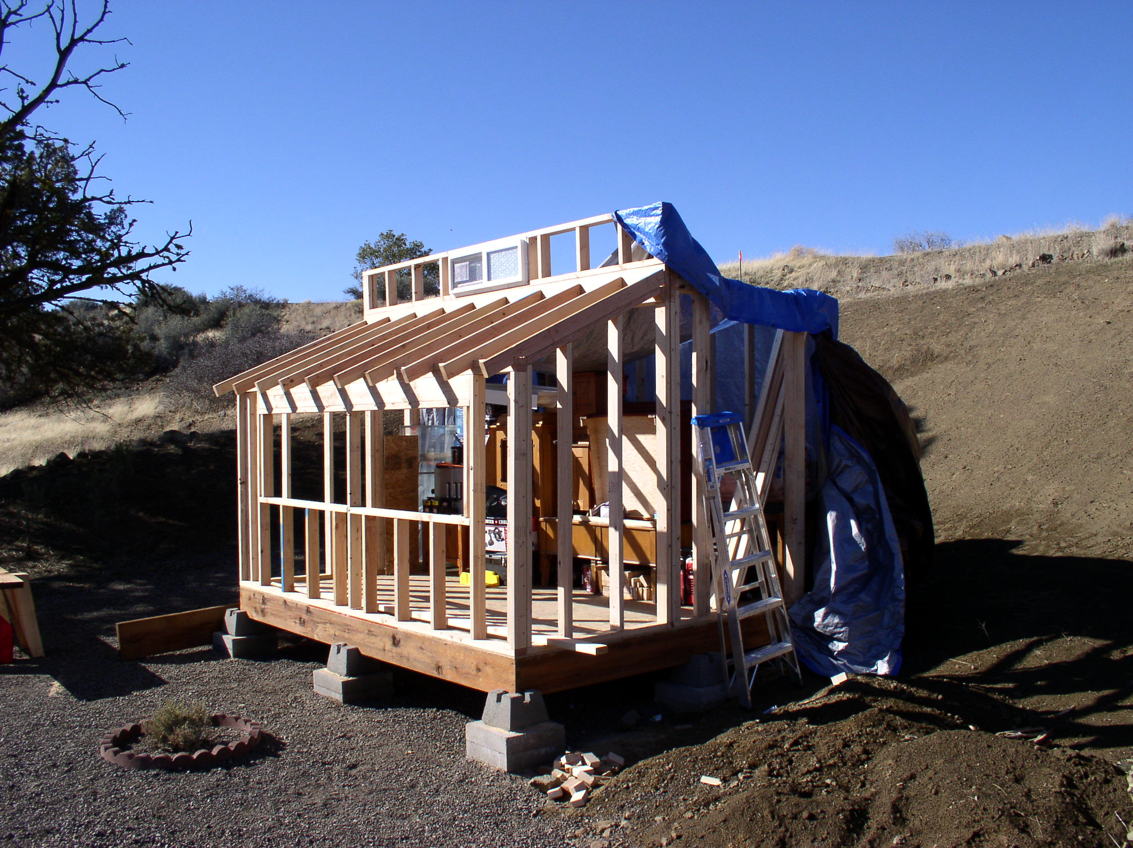 Framing The Walls Of The Sangha Shed Of Liza Dzhensen And